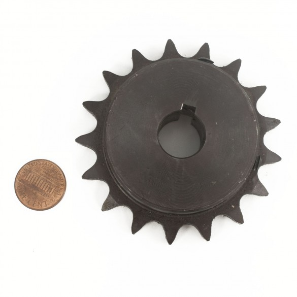 Nice Apollo 40B17 Drive Sprocket, #40 Chain (penny shown for scale)