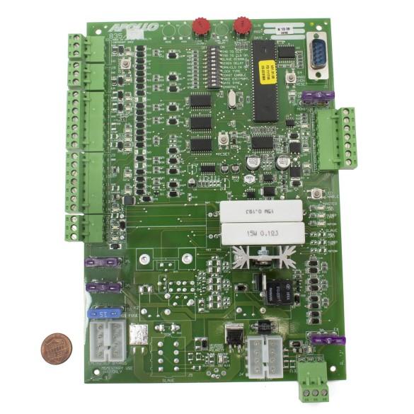 Nice Apollo 835 Control Board (penny shown for scale)