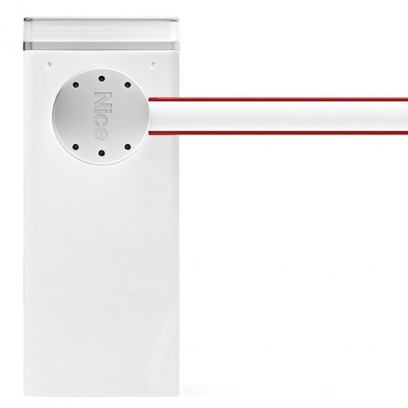 Nice Apollo LBAR L-Bar Barrier Gate Operator for up to 29.5 ft Barrier Arms (White) - Barrier Arm Not Included