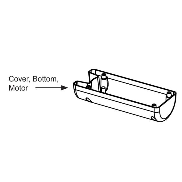 Nice Apollo Bottom motor cover for TITAN12L/12L1, aluminum - PD0929A3000