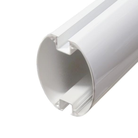 "Nice Apollo XBA15 124"" White Aluminum Bar for L-Bar and M-Bar Gate Operators"