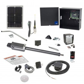 Nice Apollo TITAN12L1 Swing Gate Opener Solar Package w/ 1050 Control Board, 10 Watt Solar Panel and Entry/Exit Controls