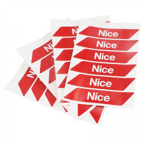 Nice Apollo WA10 Red Adhesive Reflector Strips for L-Bar and M-Bar Systems