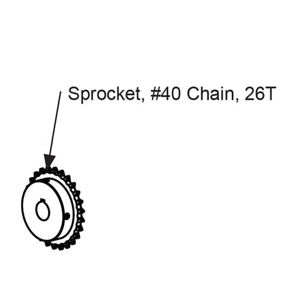 #40 Chain 26T Sprocket - MX4364